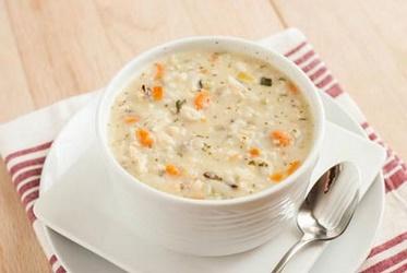 سوپ جو با شیر